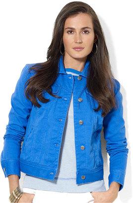 Lauren Ralph Lauren Jacket, Colored Denim