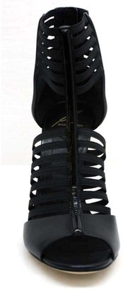 """Brian Atwood B Langden"""" Black Leather Strappy Bootie"""
