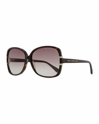 MARC by Marc Jacobs Oversized Plastic Tortoise Sunglasses, Dark Havana $120 thestylecure.com