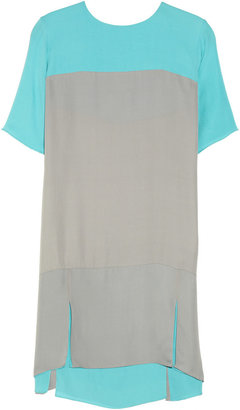Richard Nicoll Two-tone silk-crepe dress