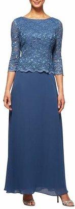 Alex Evenings Mock Two-Piece Dress