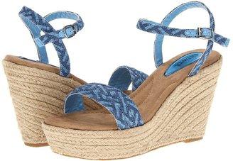 Fitzwell Kacey Wedge (Denim) - Footwear