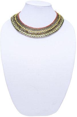 Arden B Multi-Row Beaded Chain Necklace