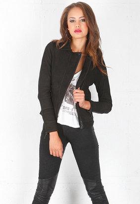 Singer22 Chaser Classic Moto Jacket in Black