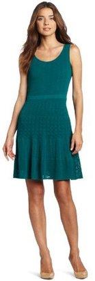 Nine West Dresses Women's Scoopneck Sleeveless Tiered Dress