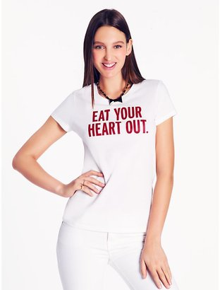 """Kate Spade Call to action """"eat your heart out'' tee"""
