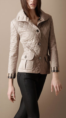 Burberry Funnel Neck Quilted Jacket