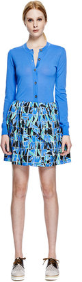 Kenzo Printed Cotton Mini Skirt