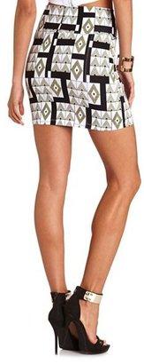 Charlotte Russe Neon Triangle Mini Skirt