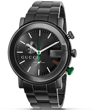 "Gucci G Chrono"" Collection Black PVD Watch, 44 mm"