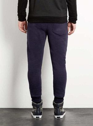 Topman Navy Deep Cuff Sweatpants