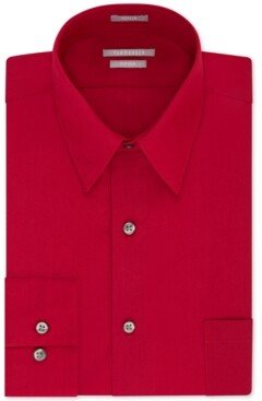 Van Heusen Men's Athletic Fit Poplin Dress Shirt