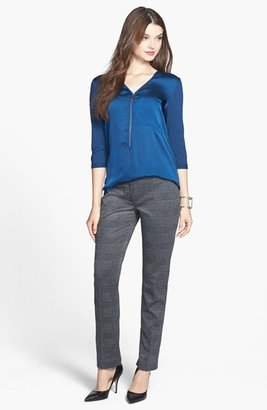 Vince Camuto Glen Plaid Ponte Ankle Trousers (Regular & Petite)