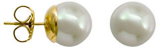 Majorica 8MM Organic Man-Made Pearl Stud Earrings