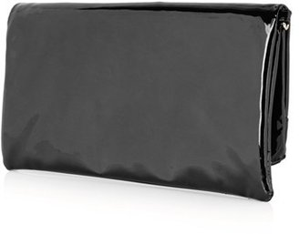 Topshop Faux Patent Leather Clutch