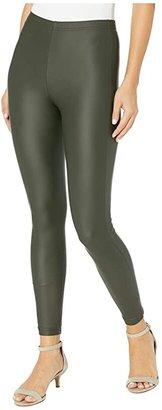 Plush Fleece-Lined Liquid Legging (Black) Women's Clothing
