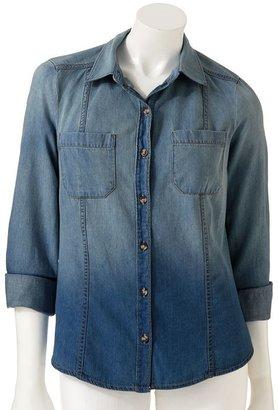 Lauren Conrad faded chambray shirt - women's