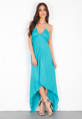 Singer22 Ramy Brook Nadia Open Back Dress in Sea Green