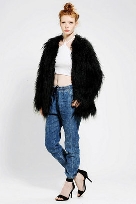 Urban Outfitters L'America Starstruck Faux Fur Coat