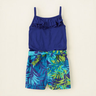 Children's Place Tropical print romper