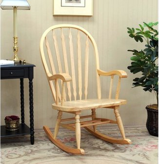 Hudson Carolina Cottage Rocking Chair in Natural