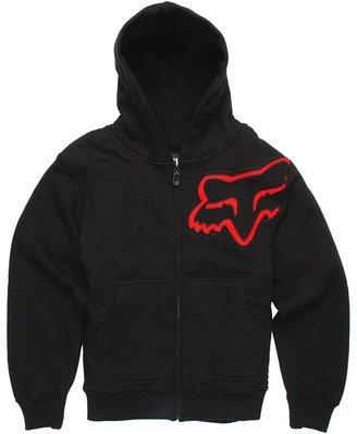 Fox Durban Sherpa Zip Fleece Hoodie (Big Kids) (Black) - Apparel