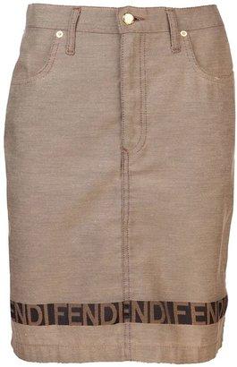 Fendi Vintage Bronze-washed skirt