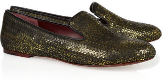 Marc by Marc Jacobs Sequined leather loafers