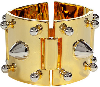 Eddie Borgo Gold-Toned Cuff with Silver-Plated Studs