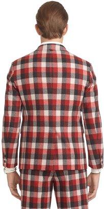 Brooks Brothers Buffalo Check Cut-Away Jacket