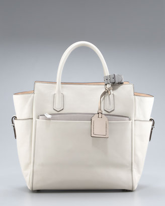 Reed Krakoff Atlantique Tote, Winter White/RK Gray