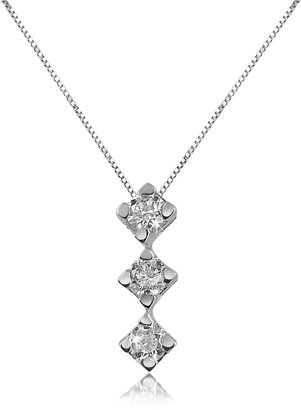 Forzieri 0.12 ct Diamond Drop 18K Gold Necklace