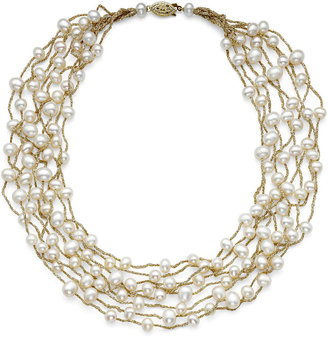 FINE JEWELRY Cultured Freshwater Pearl 8-Row Illusion Necklace $249.98 thestylecure.com