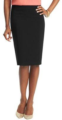 LOFT Tall Elongated Pencil Skirt in Mid Weight Scuba