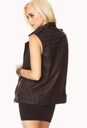 Forever 21 Street-Chic Studded Moto Vest