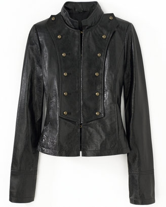 Spiegel Military-Style Leather Jacket