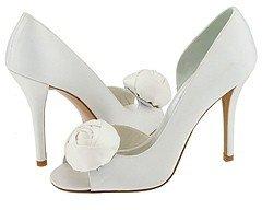 Stuart Weitzman & Evening Collection - Pomposo (White Satin) - Footwear