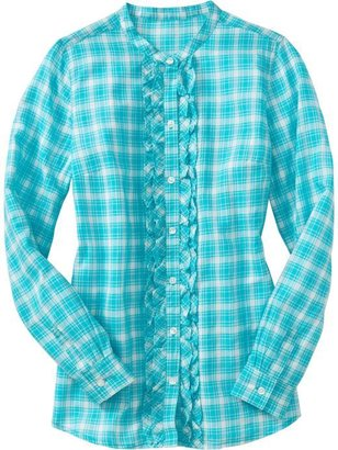 Old Navy Women's Patterned Ruffle-Placket Shirts