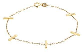 Jennifer Meyer Yellow Gold Cross Bar Bracelet