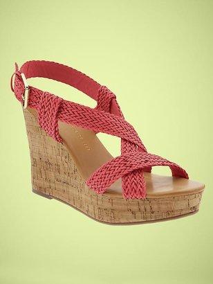 Gap Braided wedge sandal