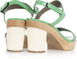 Marni Glossed-leather platform sandals
