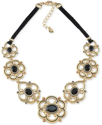 Carolee Necklace, Gold-Tone Frontal Statement Necklace