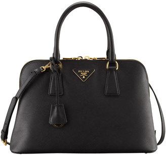 Prada Medium Saffiano Promenade Bag, Black (Nero)