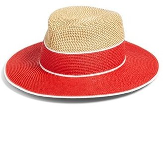 Women's Eric Javits 'Georgia' Woven Hat - Red $198 thestylecure.com
