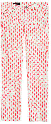 J.Crew Cropped matchstick jean in thistle print