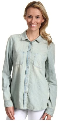 Calvin Klein Jeans Fitted Denim L/S Shirt (Light Wash) - Apparel