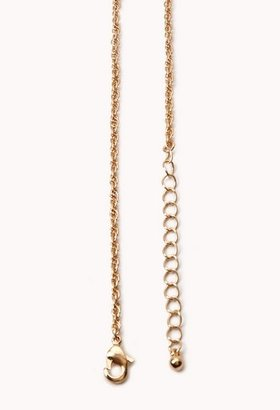 Forever 21 Kisses & Pearls Rope Necklace