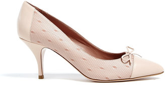RED Valentino Tulle Side Leather Pointed Court Shoes