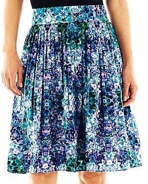 Liz Claiborne Print Pleated Skirt