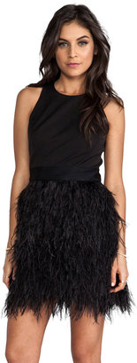 Milly Cocktail Feather Dress